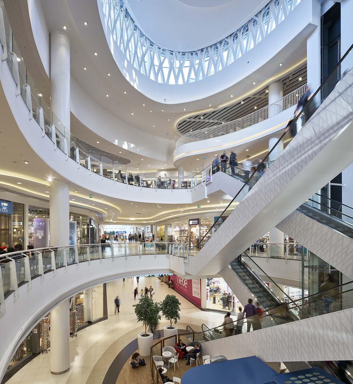 Centrum Handlowe Wola Park –wnętrza ogólnodostępne