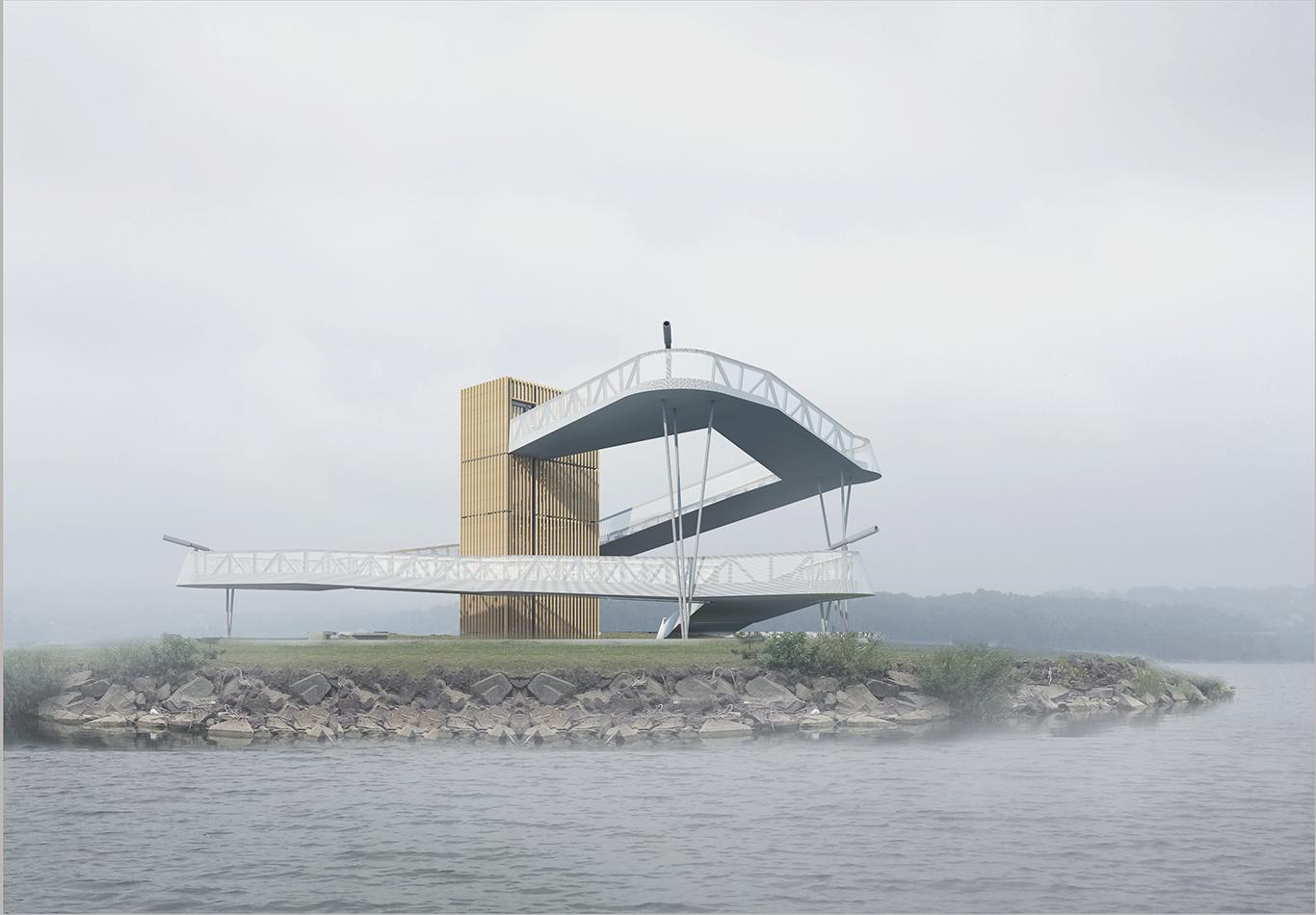Wieża widokowa nadzalewem Dobczyckim